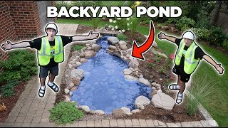 Download BUILDING A BACKYARD POND!! ... (parents didn't know) Video