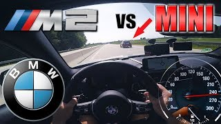 Download BMW M2 meets ANGRY Flashing MINI on German Autobahn✔ Video