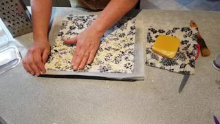 Download How to make beeswax cotton food wrap with either an iron or oven Video