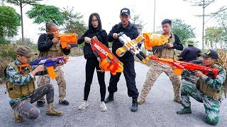 Download Nerf War: S.W.A.T & Special Forces Nerf Guns Bandits Group Rescue Queen Nerf Movie Video
