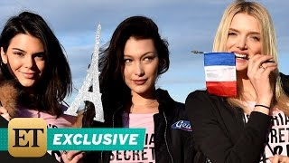 Download EXCLUSIVE: ET Flies With Victoria's Secret Angels as They Jet to Paris for 2016 Fashion Show Video