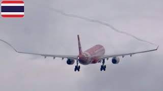 Download Amazing!!WING VORTEX with in cloud‼︎ THAI AirAsia X🇹🇭A330-343[HS-XTG]NRT34R T/O!! Video