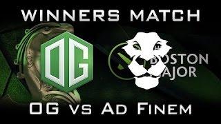 Download OG VS EG | OG VS AD FINEM | THE BOSTON MAJOR | GRANDFINAL DAY Video