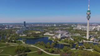 Download München von Oben - Westpark - Olympiapark - Olympiaturm - Munich from Above - Drone - 4K Video