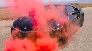Download Using Smoke Grenades To Understand Acura NSX Aerodynamics Video