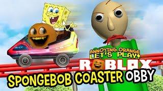 Download Roblox: SPONGEBOB COASTER Obby [Annoying Orange Plays] Video