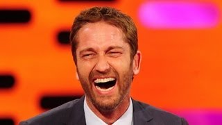 Download Gerard Butler Wins Wacky Wire - The Graham Norton Show - Series 13 Episode 1 - BBC One Video