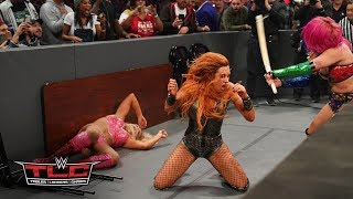 Download Becky Lynch, Charlotte Flair and Asuka trade punishing blows in thrilling TLC Match: WWE TLC 2018 Video