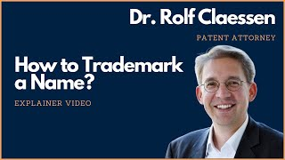 Download How to Trademark a Name or Business Name #trademark #rolfclaessen Video