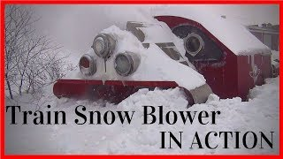 Download Biggest Snowfall vs Train Snowblower -Train Snow Plow - Rotary Snow Plow Blower Video