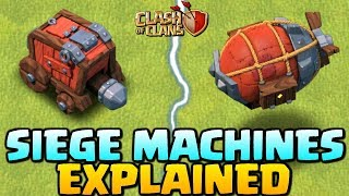 Download NEW SIEGE MACHINES EXPLAINED - Clash of Clans Update - How to use Siege Machine - CoC Town Hall 12! Video