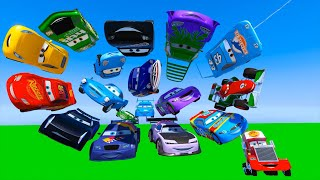 Download Race All Cars Disney McQueen Jackson Storm Cruz Ramirez Chick Hicks The King Francesco and Friends Video