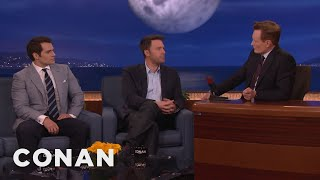 Download Ben Affleck & Henry Cavill's Reactions To Being Cast As Batman & Superman - CONAN on TBS Video