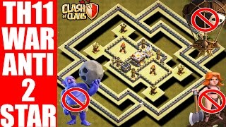 Download NEW TH11 WAR BASE ANTI 2 STAR WITH REPLAY PROOF | ANTI BOWLER | ANTI LAVALOON Video