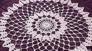 Download Crochet doily tutorial How to crochet doily 1-5 round Part 1 Video