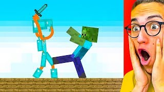 Download Reacting To THE BEST STICK FIGHT MINECRAFT ANIMATIONS! Video