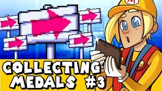 Download Super Mario Maker 3DS: KEEP HOLDING RIGHT! (World 3 All Medals) Video