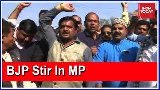 Download BJP Workers Protest Against Kamal Nath Govt After 2 BJP Leaders Murdered Video