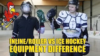 Download Difference Between Ice and Inline Hockey Equipment - Ice Hockey vs Roller Hockey Video