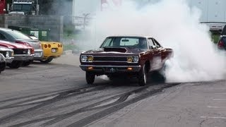 Download 1968 1000hp Hemi Roadrunner Burnout ″Rat Poison″ GODFATHER Racing MORE HEMI'S Video