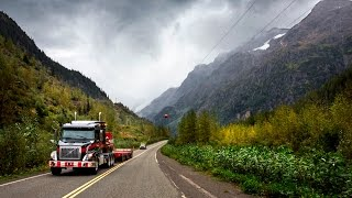 Download Volvo Trucks – Running footage: A Volvo VNX 630 with oversized load in the Canadian wilderness Video