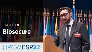 Download Biosecure Statement by Mr Kai Ilchmann on the behalf of Ms Kathryn Millett at CSP-22 Video