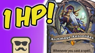 Download I SURVIVED WITH ONLY 1 HP TO OTK! | LEYLINE MAGE | HEARTHSTONE | DISGUISED TOAST Video