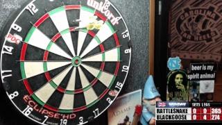 Download Rattlesnake vs Blackgoose -WDA Darts Video