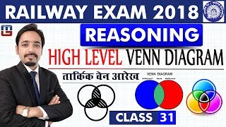 Download High Level | Venn Diagram | Class - 31 | Reasoning | RRB | Railway ALP / Group D | 8 PM Video