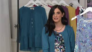 Download LOGO by Lori Goldstein Printed Knit Tank with Lace Trim Hem on QVC Video
