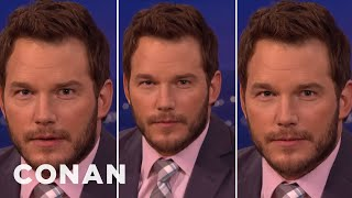 "Download Chris Pratt's Three Faces Of ""Jurassic World"" Acting - CONAN on TBS Video"