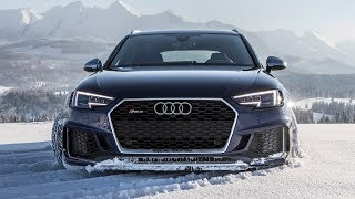 Download Can the 2018 AUDI RS4 handle the ROUGH SNOW? - (450hp/600Nm/V6BiTurbo) - Stuck or not? Video