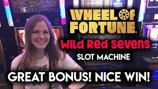 Download Top Free Spins BONUS on Wheel of Fortune Wild Red Sevens Slot Machine!! Great Run!! Video