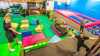 Download OVERNIGHT AT SUPER TRAMPOLINE PARK! (Doing really dumb stuff) Video