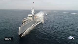 Download Anti-Submarine Warfare (ASW) Continuous Trail Unmanned Vessel (ACTUV) Post-Christening Highlights Video