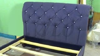Download HOW TO REUPHOLSTER A TUFTED HEADBOARD AND INSTALL THE BED FRAME TOGETHER - ALO Upholstery Video