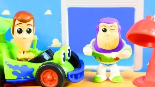 Download Toy Story Minis Playset Buzz Lightyear Space Ship Woody Western Train RC Car Pizza Planet Alien Video