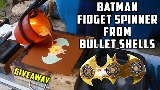 Download Casting Brass Batman Fidget Spinner from Bullet Shells Video