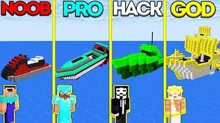 Download Minecraft Battle: NOOB vs PRO vs HACKER vs GOD: SPEEDBOAT CHALLENGE in Minecraft Animation Video