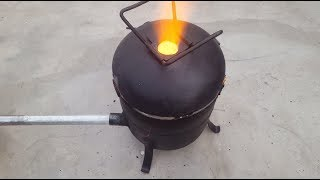 Download Make a Simple Metal Foundry Using Empty Gas Cylinder. Video