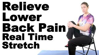 Download Relieve Lower Back Pain with This Real Time Seated Knee to Chest Stretch - Ask Doctor Jo Video