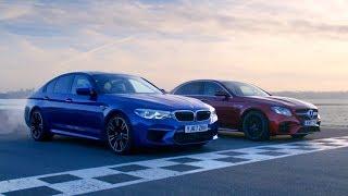 Download Chris Harris vs Business Stig: BMW M5 vs Merc-AMG E63 S | Top Gear: Series 26 Video