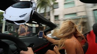 Download Using Tinder to pick up Girls in a $250,000 Lamborghini Video