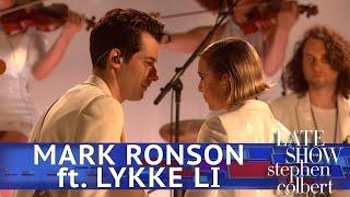 Download Mark Ronson Performs 'Late Night Feelings' ft. Lykke Li Video