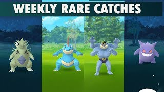 Download Pokemon go rare weekly catches compilation Video