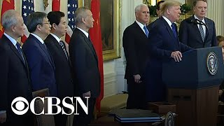 Download Trump speaks before signing ″Phase One″ of China trade deal Video