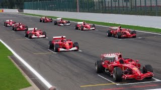 Download Ferrari Formula 1 Corse Clienti - EPIC Line up! V8/V10/V12 Video