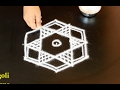 Download easy star rangoli designs with 5 to 3 interlaced dots/ easy kolam designs/ star muggulu with dots Video