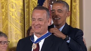 Download Tom Hanks Awarded Medal of Freedom Video