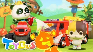 Download Super Panda Rescue Team | Cooking Pretend Play | Play Doh for Kids | Kids Toy | Kids Cartoon| ToyBus Video